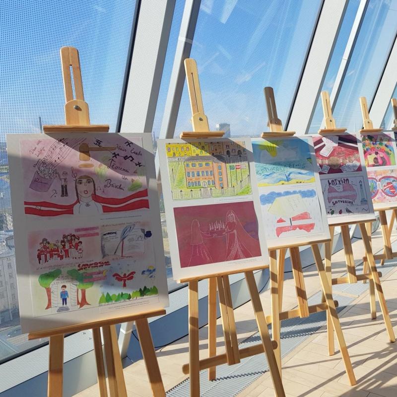 Satversmes tiesas bērnu zīmējumu konkurss