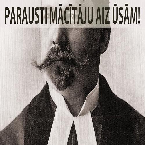 Parausti mācītāju aiz ūsām