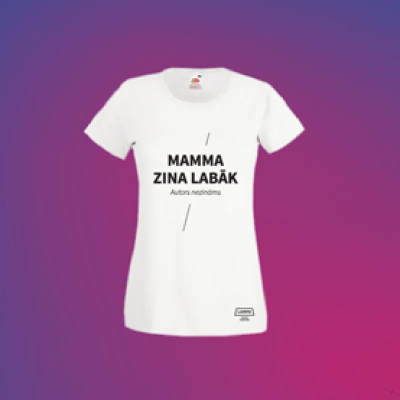 Sieviešu T-krekls / MAMMA ZINA LABĀK
