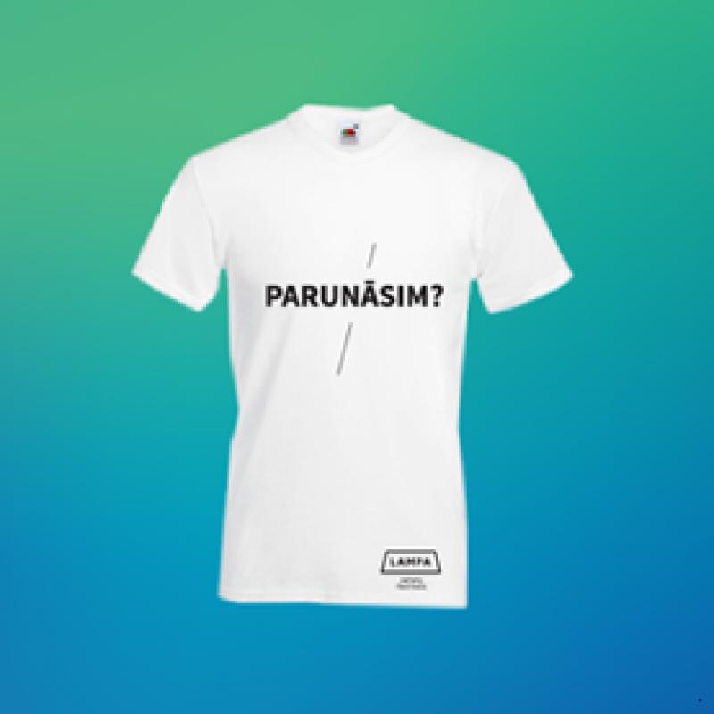Vīriešu T-krekls / PARUNĀSIM?